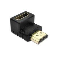 HDMI uyumlu 90 derece dik açılı adaptörü HD-270 bineemale kadın dirsek konektörüne