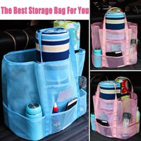 Storage Bags Swimming Pool Beach Large Mesh Bag Wash Sports Handbags For Women Portable Travel Makeup Organizer