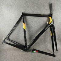 Gold C64-Rahmen glänzend Matt-Mix-Frameset Full Carbon Fiber Bike Road Fahrradrahmen