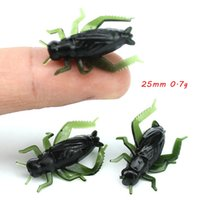 100pcs lot 25mm 0.7g Simulation Cricket Silicone Fishing Lure Soft Baits & Lures Pesca Tackle Accessories WA_548