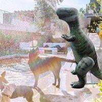Çocuklar için Şişme Dinozor Fışkırtma Su Yaz Yüzme Havuzu Plaj Bahçe Açık Oyun Su Spreyi Dinozor