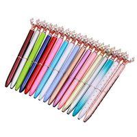 2021 هدية الكتابة diy الإبداعية الغزلان رئيس معدن حبري أقلام ملء الذاتي العائمة بريق مجففة زهرة الكريستال القلم أقلام 16 اللون