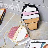 Evening Bags Cute Ice Cream Cupcake Women Bag PU Leather Small Chain Clutch Girl Messenger Crossbody Shoulder Female Purse Handbags