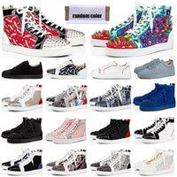 red bottoms Designer-Schuhe Männer Frauen Chaussures Studded Spike Sneakers Triple Schwarz Weiß Leder Wildleder flache Freizeitschuh 36-47 Jahrgang