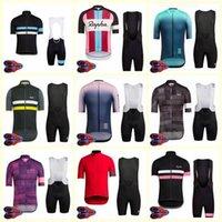2020 Rapha Team Cycling Courtes manches courtes Shorts Jersey Set Vélo Porter des tops d'été Tops respirants Vêtements rapides U20042011
