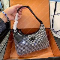 Pırlantalar Omuz Çantaları Çanta Luxurys Tasarımcılar Çanta Crossbody Çanta Sırt Çantası Kılıf Yarım Ay Hobo Tasarımcılar Çantalar Saten Hobo 21030601L