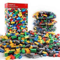 1000 piezas DIY Bloques de construcción Conjuntos a granel Ciudad Creative Classic Technic Creator Ladrillos Montaje Niños Juguetes educativos 210607