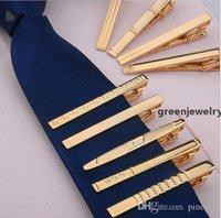 12 أنماط الرجال المعادن الذهب التعادل كليب دبابيس الأعمال اللباس العريس فستان الزفاف طوق TI03