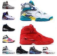 air jordan jordans aj Scarpe da uomo 8s scarpe da pallacanestro scarpe da esterno Jumpman Aqua Black South Beach Three torta Doernbecher 8 Traineri SE Bianco Sneakers