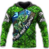 Women's Hoodies & Sweatshirts Mahi Fishing 3D All Over Printed Mens Zip Autumn Unisex Fashion Casual Jacket Hip Hop Hoodie LLJ047 3SFQ