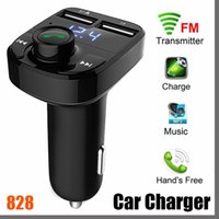 828D 2021 FM X8 الارسال aux modulator بلوتوث يدوي سيارة كيت سيارة الصوت مشغل mp3 مع 3.1A شحن سريع شاحن سيارة USB المزدوج