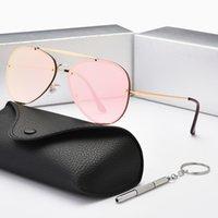 Klasik Moda Işık Degrade Güneş Gözlüğü erkek Ve Kadın Bukalemun Polarize Aviator Güneş Gözlüğü Anti-parlama Sürüş Gözlük UV400 Kutusu ile 3584
