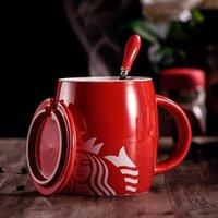 Starbucks Fincan Lüks Öpücük Kupaları Çift Seramik Kupalar Evli Çiftler Yıldönümü Sabah Kupa Süt Kahve Çay Kahvaltı Sevgililer Günü 2021
