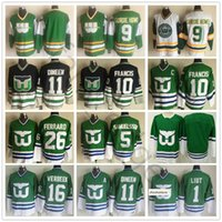 Hartford Whalers 9 Gordie Howe 10 Ron Francis 26 Ray Ferraro 5 Ulf Samuelsson 16 Pat Verbeek 11 Kevin Dineen Dave Tippett 1 Mike Liut Jersey