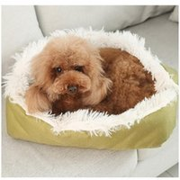Cat Beds & Furniture Dog Bed Kennel Square Blanket Long Plush Soft House Sleeping Bag Puppy Cushion Pet Mat