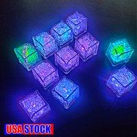 RGB Cube Lights Ice Decor Cubi Cubes Flash Sensore liquido Acqua Sottomeribile Barra del LED Accensione per il club Party Wedding Champagne Tower
