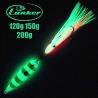 Lunker Inchiku 120g 150g 200g Glow Metal Slow Jig Jig Gonna Giappone Giappone Snapper Grourper Marlin Jigging Sale Acqua Sea Boat Lure 210622