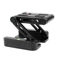Z Tipo Tilt Treppiede Testa Flex pieghevole Z Pan per Canon Nikon Sony DSLR Camera Telecamera in alluminio in lega di alluminio Top Quality All Metal CNC Tech