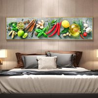 Paintings Modern Peppers Vegetables Fruits Fashion Kitchen Decor Long Wall Posters Home HD Spray On Canvas Oil Painting Bedroom Pictures