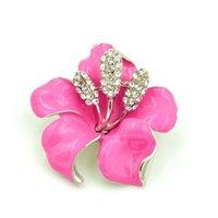 Pins, broches elegante rhodium verzilverd strass crystal diamante lila kleur narcissen bloem broche voor vrouwen
