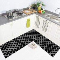 Американская черно-белая сетка кухонная абсорбирующая коврик коврик набор балкона входной двери нога