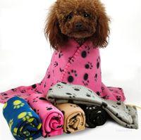 60 * 70 cm Coperta per animali domestici Piccolo PAW Stampa asciugamano Asciugamano Cat Dog Fleece Soft Warmer Bella Coperte Letti Cuscino Cuscino Coperta Coperte Coperta ZC120