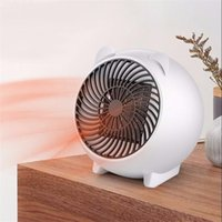 Mini calentador de escritorio de dibujos animados Moda Dekstop Calentador eléctrico Soplador de aire caliente Calentador de invierno Aire caliente Ventilador de aire caliente EE. UU.