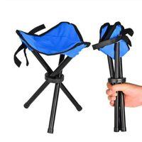 جديد كرسي المحمولة خفيفة الوزن للطي التخييم التنزه طوي البراز ترايبود كرسي مقعد لصيد السمك نزهة شاطئ الشاطئ