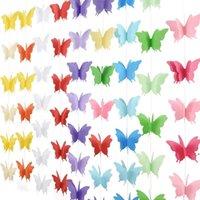 2,7 mètres de décoration de papillon tridimensionnel de la fête de mariage filles de mariage anniversaire tirer fleur enfants salle de maternelle salle de classe BWF9000