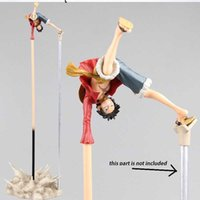 New Arrival Anime Action Figure ONE PIECE TOY Luffy Rubber Gun Long Hand Stand Upside Down Ver 35CM Model PVC Battle Collect Toy G0916