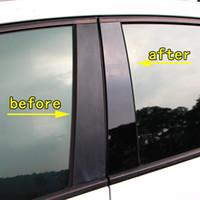 Черный красный синий автомобиль Средний до н.э. столбец наклейки зеркало окна столб столб сообщений обложки отделка аксессуары для Audi Q3 Q5 Q8 2010-2021