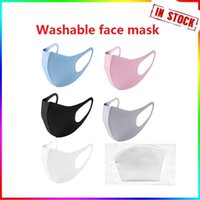Anti Dust Face Mask Mouth Cover PM2.5 Respirator Anti-bacterial Washable Reusable Ice Silk Cotton Masks Adult Child In Stock Fast Delivery