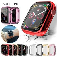 Cover Apple Watch series 5 4 3 2 1 bands cases 42mm 38mm 40mm 44mm Slim TPU case Protector for iWatch