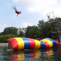 أحدث تخصيص 8x3 متر نفخ المياه بلوب الانتقال وسادة الرياضة القفز حقيبة الترامبولين المنجنيق الصيف معدات الترفيه بالون