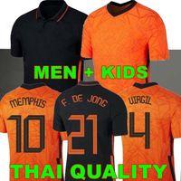 2020 2021 Time de futebol nacional holandês Memphis de Jong Países Baixos de Ligt Strootman Van Dijk Virgil Homens + Kids Futebol Uniforme