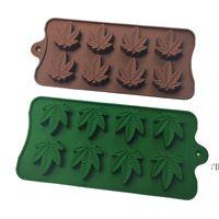 메이플 리프 실리콘 DIY 케이크 금형 8 그리드 초콜릿 금형 젤리 아이스 베이킹 금형 3D 쿠키 사탕 금형 주방 박욕 도구 HWA9643