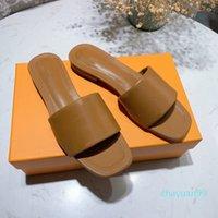 2021 Высочайшее качество Женщина Плоские тапочки Лидо Сандалии квадратный носок Высокие каблуки Open-Toe тканый дизайнер Летний Все-матч Стилист Обувь 6см