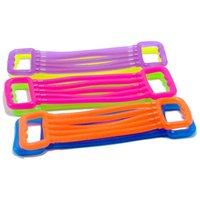 어린이 암 들것 아이들 조절 가능한 스트레치 가슴 확장기 다채로운 탄성 감압 장난감 스포츠 운동 피트니스 로프 H31001
