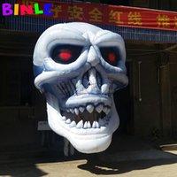 مجنون هالوين الديكور العملاق نفخ رئيس الجمجمة شنقا نموذج الهيكل العظمي مع منفاخ داخلي للحدث الإعلان