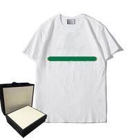Летние футболки для мужчин для мужчин Женщины Топы Письма Полосатая печатная футболка Унисекс с коротким рукавом Thirts Thicks Think Material Tops S-2XL