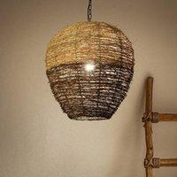 Decoratieve objecten beeldjes zq rotan lamp retro plafondlamp creatieve persoonlijkheid artistieke homestay el slaapkamer eetkamer