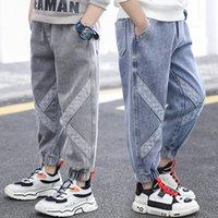 2021 Neu für Jungen Brief Drucken Baby Junge Denim Kinder tragen Jeans Kinderkleidung 2-9 Jahre alt 4ihg
