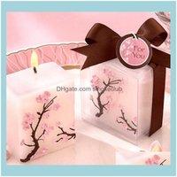 Autres événements Festifs Fournitures Accueil Garden100pcs Bougies Smoke - Cire parfumée Cerisier Blossoms Candles Cadeaux Présents cadeaux Favors Fête Decora