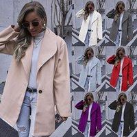 Women's Wool & Blends Autumn And Winter Coats Fashion Lapel Mid-length Woolen Coat Women