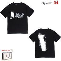 Camiseta de las mujeres de la camiseta de la camiseta de la camiseta de alta calidad de la camiseta de la alta calidad de las tops de las mujeres tops de algodón puro letra de la letra de la letra del hip hop de la ropa con la caja de etiqueta