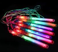 Varas de festa de aniversário flash colorido Atacado com cordão LED Eletrônico Fulgor Rainbow Stick Concert Chow Sticks Light Sticks
