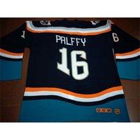Vintage Rare 668 1997-98 New York Islanders Fisherman N. 16 Ziggy Palffy Fishsticks Game usurata o personalizzata Qualsiasi nome o numero NUMERO Jersey retrò