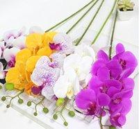 Искусственные цветы Real Touch Искусственный моль Орхидея бабочка Орхидея для дома Сад Домашний офис Свадебный фестиваль