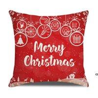 20 ألوان الزخرفية وسادة يغطي لعيد الميلاد هالوين الكتان الوسائد 45 * 45 سنتيمتر مخصص سانتا المطبوعة وسادة وسادة وسادة dhf10286