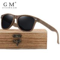 GM Wood Мужчины Солнцезащитные очки Polarized UV400 Кофематериал для кофе Деревянные Солнцезащитные Очки для Женщин Синий Зеленый Линза Handmade Мода Бренд